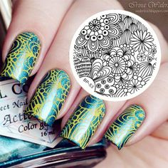 Born Pretty Nail Art Stamping Plate Radiating Flroal Image Template for sale online Nail Art Kit, Nail Art Tools, Nail Art Hacks, Manicure Images, Nail Art Images, Acrylic Nail Art, Gel Nail Art, Nagel Stamping, Image Nails