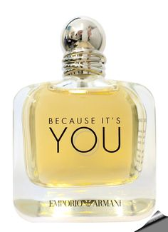 Emporio Armani Because It's You Eau de Parfum for women. The fragrance that reportedly exudes both strength and delicacy is created by perfumer Anne Flipo. Perfume Hermes, Perfume Diesel, Best Perfume, Perfume Bottles, Emporio Armani Because It's You, Vintage Perfume Bottles, Lotions, Soaps, Eau De Toilette