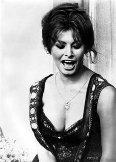 """ Sophia Loren on the set of Ieri, Oggi, Domani, 1963. """