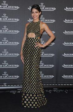 Freida Pinto Wears Alexander McQueen and Jaeger LeCoultre- killer dress