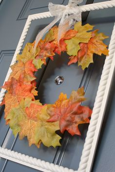 Fall Monogram Wreath