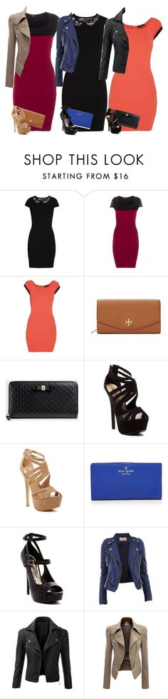 """""""College Parties"""" by cloudybooks ❤ liked on Polyvore featuring Morgan, Tory Burch, Gucci, Red Circle, Kate Spade and Doublju"""