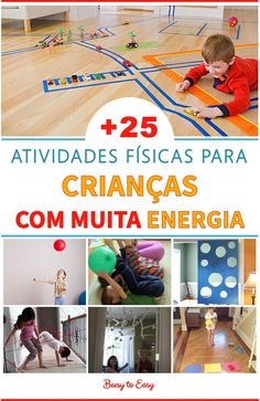 of 25 physical activities indoors to help your kids spend all of their . - of 25 physical activities at home to help your children spend all that energy that never seems to e - Gross Motor Activities, Kindergarten Activities, Physical Activities, Home Preschool Schedule, Preschool At Home, Games For Kids, Activities For Kids, Kids Education, Child Development
