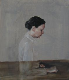 Michaël Borremans - This picture tumbled out of my book on Pre-Raphelite art the other day.