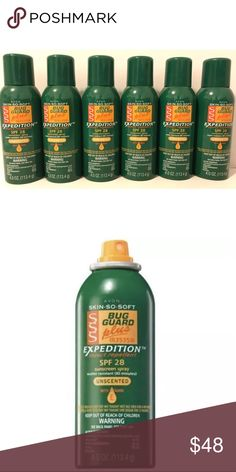 Avon Lot of 6 Bug Guard $96 Value  Date Expired : 2018/06   6 Pieces Skin So Soft Bug Guard Plus IR3535® Expedition™ SPF 28 Aerosol Spray  Repels mosquitoes that may transmit West Nile Virus for 8 hours. An unscented, DEET-free insect repellent and sunscreen product developed to provide comprehensive outdoor protection for the whole family. 4 oz. net wt. $16 EACH Avon Other