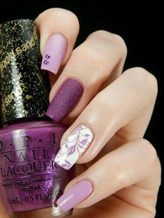 There are nail designs that include only one color, and some that are a combo of several. Some nail designs can be plain and others can represent some interesting pattern. Also, nail designs can differ from the type of nail… Read more › Fabulous Nails, Gorgeous Nails, Pretty Nails, Pink Nail Art, Purple Nails, Purple Ombre, Fancy Nails, Love Nails, Nail Art Designs 2016