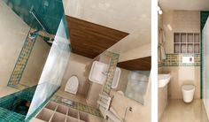 White Shower, Concept Architecture, Wood Shelves, Baths, Furniture Design, Sink, Beige, Contemporary, Interior Design