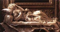 Beata Ludovica Albertoni - Gian Lorenzo Bernini. 1671-74. Marble. Cappella Altieri, San Francesco a Ripa, Rome, Italy.
