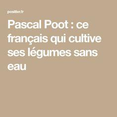 Pascal Poot, France, Project, Gardening, Gardens, Night Lamps, Permaculture Garden, Plant Cuttings, Plants