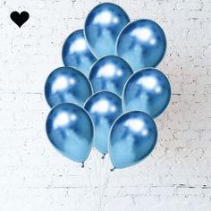 Blue Chrome Balloon