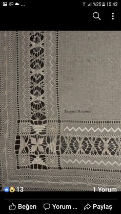 Arte del Filo Associazione Culturale Ricamo's media content and analytics Needle Lace, Bobbin Lace, Hand Embroidery Designs, Embroidery Patterns, Book Crafts, Diy And Crafts, Baby Witch, Drawn Thread, Hardanger Embroidery
