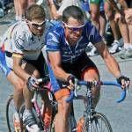 "Lance & Jan Ulrich, 2001 Alpe d'Huez , before ""The Look"""