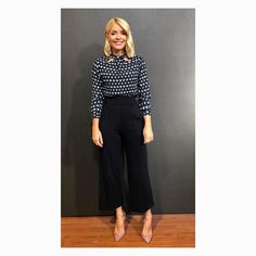 """Holly Willoughby on Instagram: """"Monday Monday.... today's look on @thismorning shirt by @dorothyperkins trousers by @insidejigsaw shoes by @lkbennettlondon #hwstyle💁✨"""""""