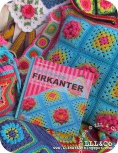 Fine & farverige FIRKANTER - du selv kan hækle ... (NEW(!) granny squares ...!)