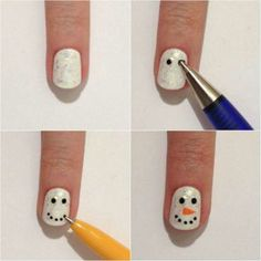 This post features simple holiday nail art designs that you can paint yourself. Holiday Nail Designs, Holiday Nail Art, Cute Nail Designs, Tor Nail Designs, Holiday Candy, Holiday Makeup, Nails Yellow, Red Nails, Love Nails