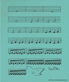 Jaws John Williams music sheet. now i can read one song in music notes.