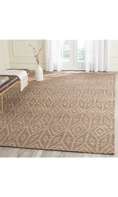 Safavieh Cape Cod Collection Hand Woven Geometric Camel Jute And Cotton Area Rug X Best Price