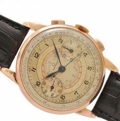 4a78ecc3b6e RARE 1939  AUTHENTIC OMEGA 33.3 CHRONOGRAPH 18K SOLID GOLD VINTAGE MENS  WATCH  MensWatches. Relógios Vintage Para HomensRelógios ...