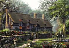 Old thatch cottage . . . image credit: http://www.yourjigsawpuzzles.co.uk/media/catalog/product/cache/1/thumbnail/9df78eab33525d08d6e5fb8d27136e95/t/h/the-old-thatch-cottage-jigsaw-puzzle.jpg . . . see also: snow.TheAmbitStory.com