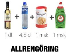 Gör egen rengöringsmedel | Nina Hermansen - Niiinis Kitchenlife Bra Hacks, Cleaners Homemade, Fire Extinguisher, Save The Planet, Sustainable Living, Clean House, Good To Know, Cleaning Hacks, Troll