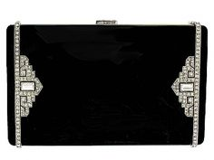 Exceptional Art Deco Cartier Enamel and Diamond Box in 18K and Platinum