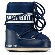 MOONBOOT Navy Tecnica Moonboot MINI size 19-22 From www.kidsandcouture.com