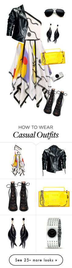 """outfit 7698"" by natalyag on Polyvore featuring Louis Féraud, Leka, Oscar de la Renta, Calvin Klein and Moschino"