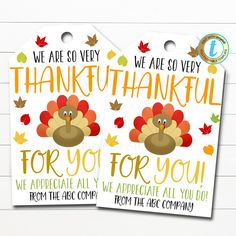 Fall Gifts, Thanksgiving Gifts, Nurse Staffing, Employee Appreciation Gifts, School Staff, Gift Tags Printable, Grateful, Thankful For You, Teacher Gifts