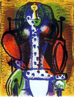 "Pablo Picasso - ""Woman in a chair II"", 1948"