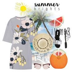 """SUMMER SET"" by kimbim222 ❤ liked on Polyvore featuring Marni, Miista, Betsey Johnson, Le Specs, summertime, summerstyle, summeroutfit and summerfashion"