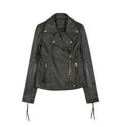 Leather jacket Leather Jacket, Denim, Jackets, Collection, Fashion, Studded Leather Jacket, Down Jackets, Moda, Leather Jackets