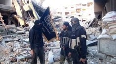 Al-Nusra fighters in Yarmouk camp (file photo)  Damascus 2015... see Isaiah 17