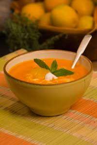 Carrot orange soup #recipe #lowfat