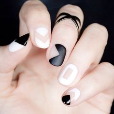 We can't get enough of this 2015 nail trend  #NegativeSpaceManicure #NegativeSpaceNails #Manicure #2015Trends #Manicure #NailArt #Nails #GlossityApp