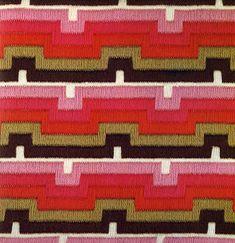 geometric needlepoint + bargello by erica wilson, 1975 via cathyofcalifornia