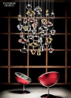 Editors' Picks: 47 Versatile Light Fixtures | Nostalgia handblown glass chandelier in crystal, chrome, gold, and rose gold by Studio Italia Design.