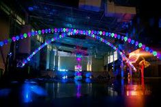 Colorado party design and decor. Quincearna and sweet 16 parties back drop. Get more help. http://memory-lane.mybigcommerce.com blue, green and purple ceiling decor