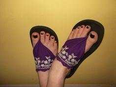 The Thriftiness Miss: Flip Flop Redo - step by step Photo tutorial - Bildanleitung