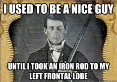 This meme about Phineas Gage's unfortunate accident. | 24 Things Only Psychology Nerds Will Find Funny