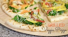 "Have you ever tried a Grilled Pizza? Thank me later. This is about to become your new ""go to"" grill recipe and it's SO easy!!"
