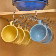 UNDER THE SHELF STORAGE CUP MUG HOLDER KITCHEN CUPBOARD ORGANISER caravan boat in Home, Furniture & DIY, Cookware, Dining & Bar, Food & Kitchen Storage | eBay!