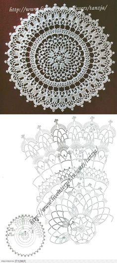 салфетка Free Crochet Doily Patterns, Crochet Snowflake Pattern, Crochet Doily Diagram, Crochet Circles, Crochet Art, Crochet Squares, Thread Crochet, Crochet Motif, Crochet Crafts