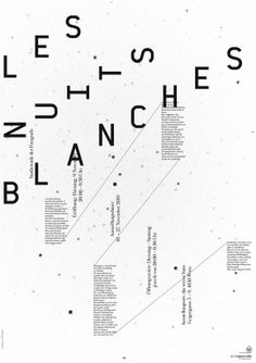 Creative Theworkshop, Les, Nuits, Blanches, and Poster image ideas & inspiration on Designspiration Word Order, New Words, Studio, Branding Design, Typography, Design Inspiration, Graphic Design, Grid, Austria