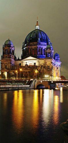 Berlin Cathedral At Night