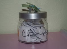 Conversation Starter Jar- good for articulation carryover and/or fluency