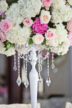 Love the chandelier effect here, such a beautiful idea for a fairytale wedding!