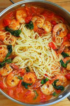 Red Wine Tomato Shrimp Pasta comes together quickly in under 30 minutes! Red Wine Tomato Shrimp Pasta What's In The Pan? whatsinthepan What's In The Pan Recipes Red Wine Tomato Shrimp Pasta comes togeth Garlic Shrimp Pasta, Shrimp Pasta Recipes, Fish Recipes, Seafood Recipes, Cooking Recipes, Healthy Recipes, Pasta With Shrimp, Healthy Shrimp Pasta, Recipies