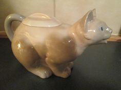 Vintage Siamese Cat Pitcher/Teapot