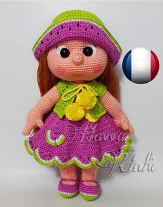 Français Modèle  La poupée Mia avec sa Robe par HavvaDesigns