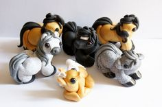 Herd of little clay horses by crystalcookart.deviantart.com on @deviantART